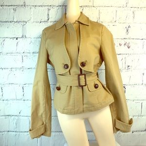 Sitwell Anthropologie Field Jacket Safari Coat 10